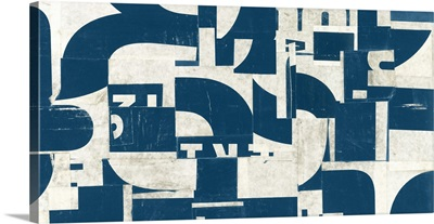 Collaged Letters Teal I