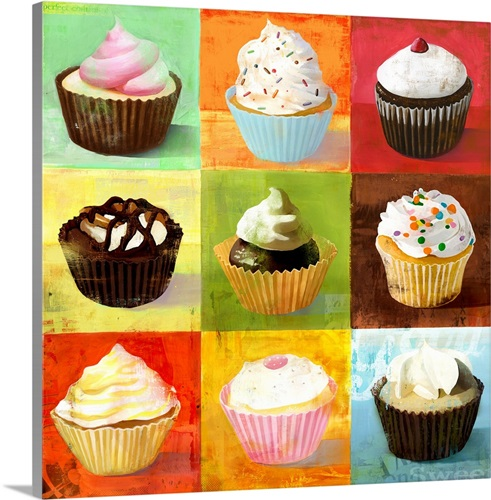 Enjoy Cupcakes Wall Art, Canvas Prints, Framed Prints, Wall Peels ...