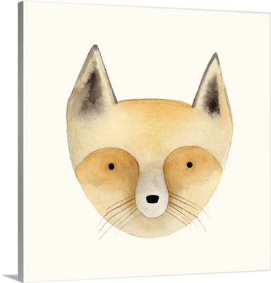 Fox Watercolor Face