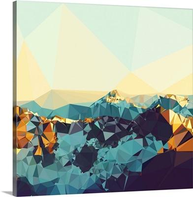 Fractal Mountain Sunset