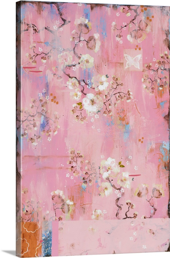 French Wallpaper Pink