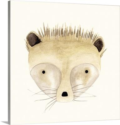 Hedgehog Watercolor Face