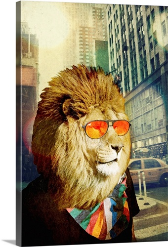 King Lion of the Urban Jungle Wall Art, Canvas Prints, Framed Prints ...