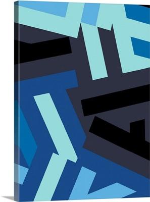 Monochrome Patterns I in Blue