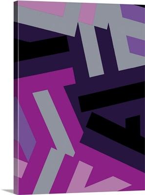 Monochrome Patterns I in Purple