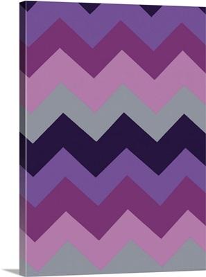 Monochrome Patterns III in Purple