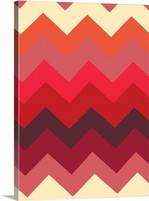 Monochrome Patterns III in Red