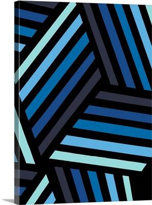 Monochrome Patterns IV in Blue