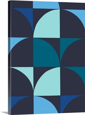 Monochrome Patterns IX in Blue