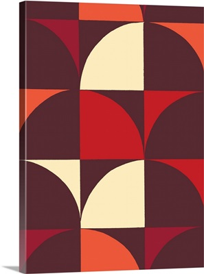 Monochrome Patterns IX in Red