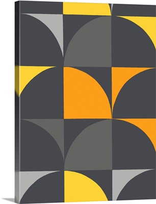 Monochrome Patterns IX in Yellow