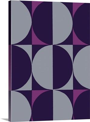 Monochrome Patterns V in Purple