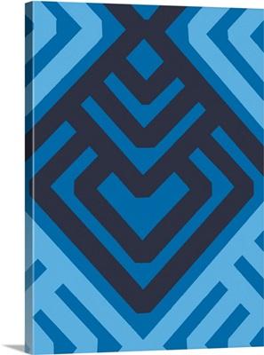 Monochrome Patterns VI in Blue