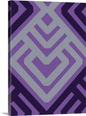 Monochrome Patterns VI in Purple