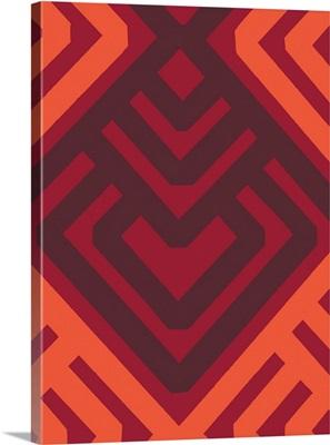 Monochrome Patterns VI in Red