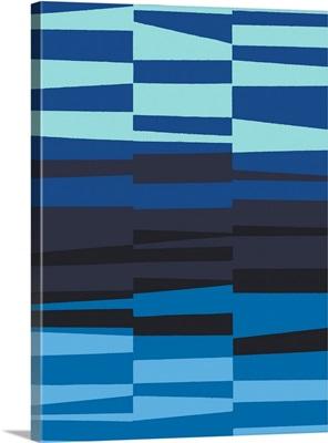 Monochrome Patterns VII in Blue