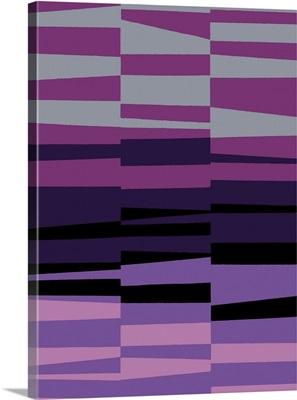 Monochrome Patterns VII in Purple