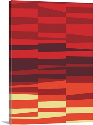 Monochrome Patterns VII in Red
