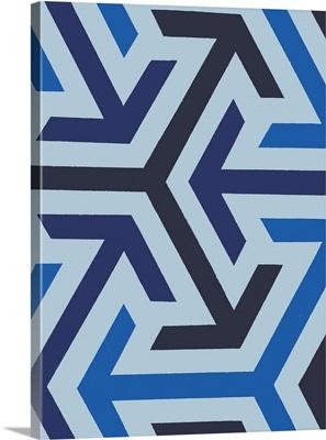 Monochrome Patterns VIII in Blue