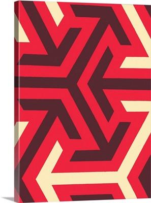 Monochrome Patterns VIII in Red
