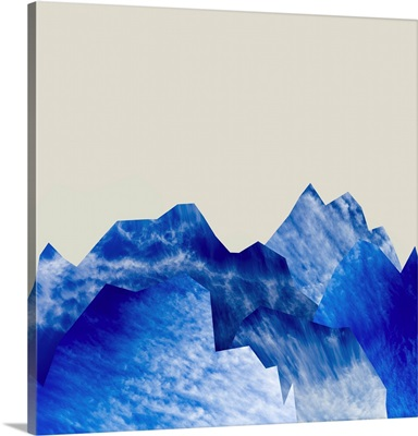 Mountain Cutouts on Tan A
