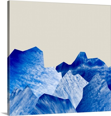Mountain Cutouts on Tan B