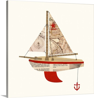 Paper Cutout Boat C