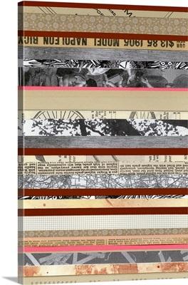 Paper Strip Collage A - Recolor