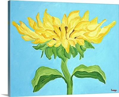 Sunflower on Blue