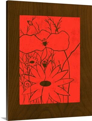 Wenge Wood Floral I-Magenta