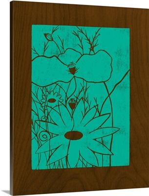 Wenge Wood Floral I-Teal