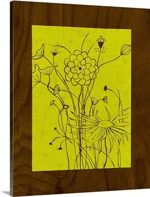 Wenge Wood Floral II-Lime