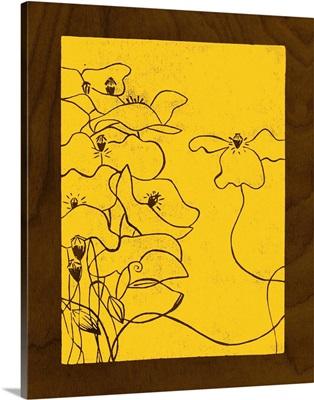 Wenge Wood Floral III-Lemon