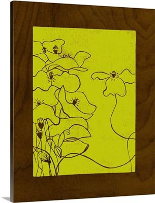 Wenge Wood Floral III-Lime