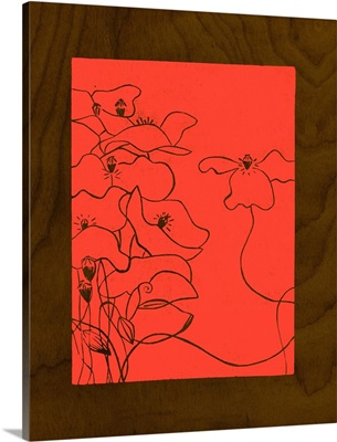Wenge Wood Floral III-Magenta