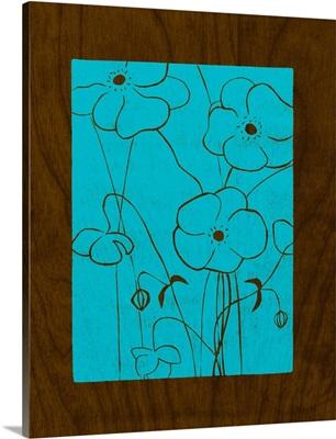 Wenge Wood Floral IV-Blue