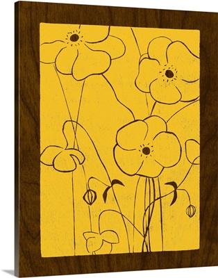 Wenge Wood Floral IV-Lemon