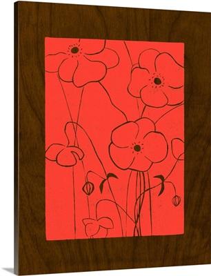 Wenge Wood Floral IV-Magenta