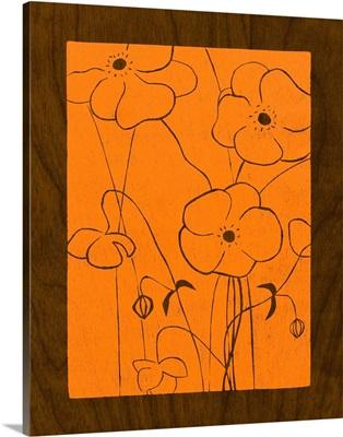 Wenge Wood Floral IV-Orange