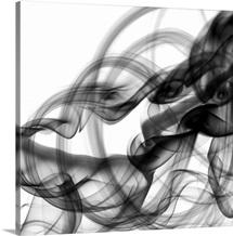 White Smoke Abstract Square