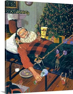Snoozing Santa
