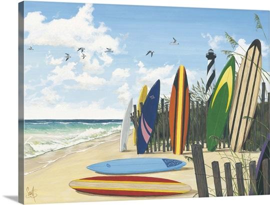 Surf Boards Wall Art, Canvas Prints, Framed Prints, Wall