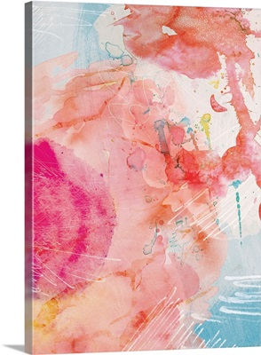 Abstract Turquoise Pink No. 1
