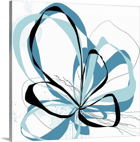 Aqua Bloom Ii Wall Art Canvas Prints Framed Prints Wall Peels Great Big Canvas