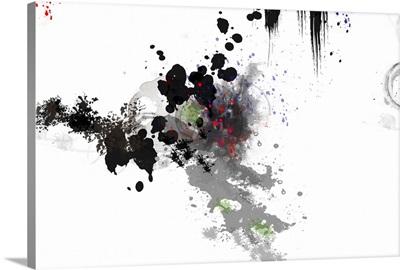 Black Spilled Paint
