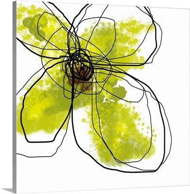 Green Liquid Floral Four