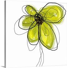 Green Liquid Flower one