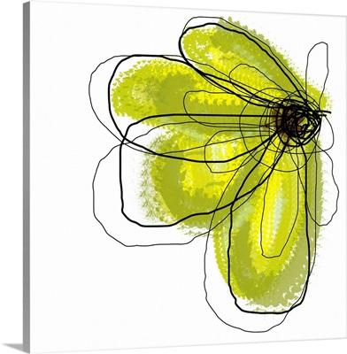 Green Liquid Flower Three