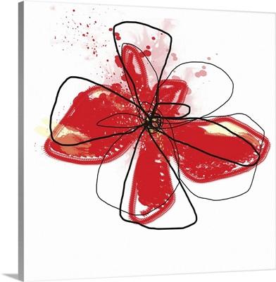 Red Liquid Floral I