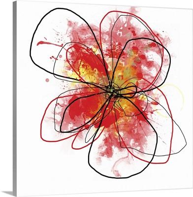Red Liquid Floral II